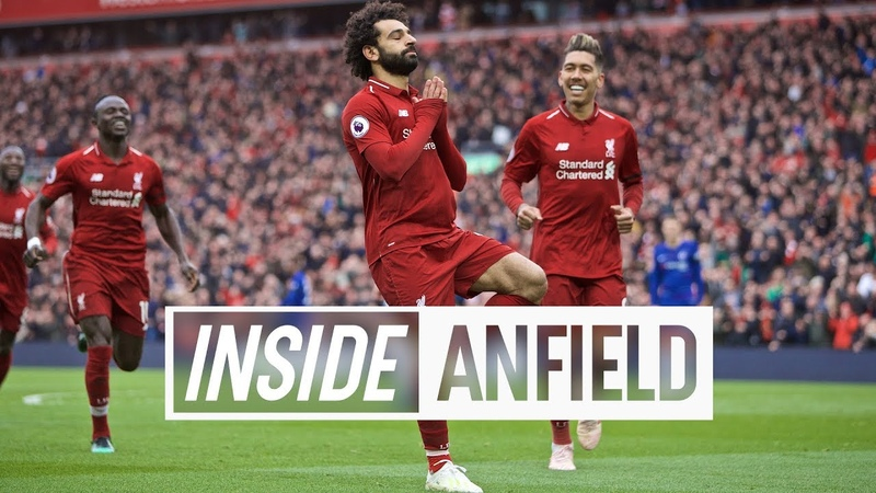 Inside Anfield Liverpool 2 0 Chelsea Anfield erupts after Salah's screamer
