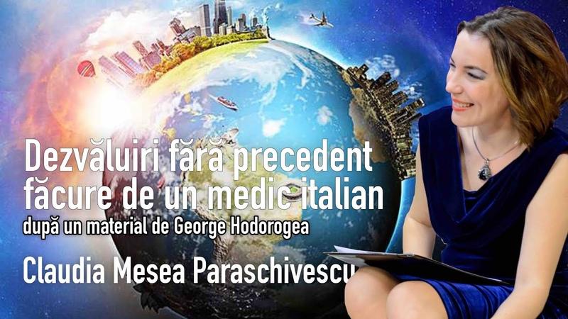 Dezvaluiri Fara Precedent Facute De Un Medic Italian * Informații Pe Care Nu Vi Le Da Nimeni