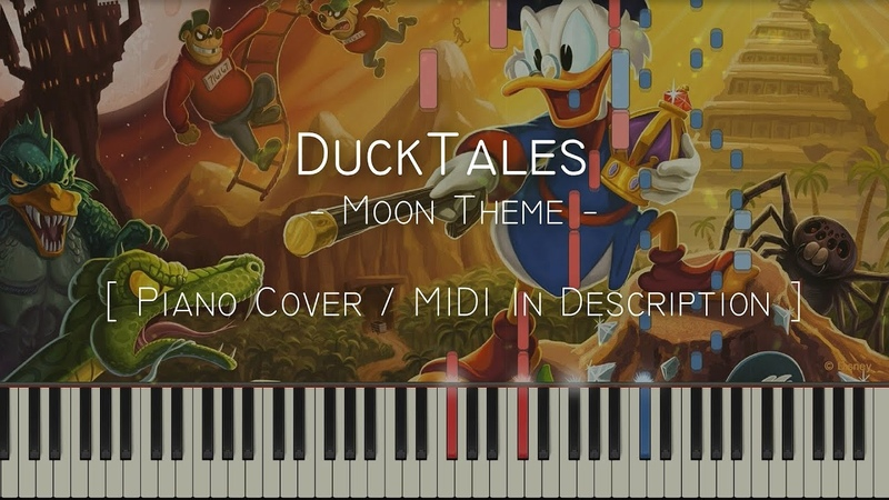 Moon Theme (DuckTales) - Synthesia Piano Tutorial