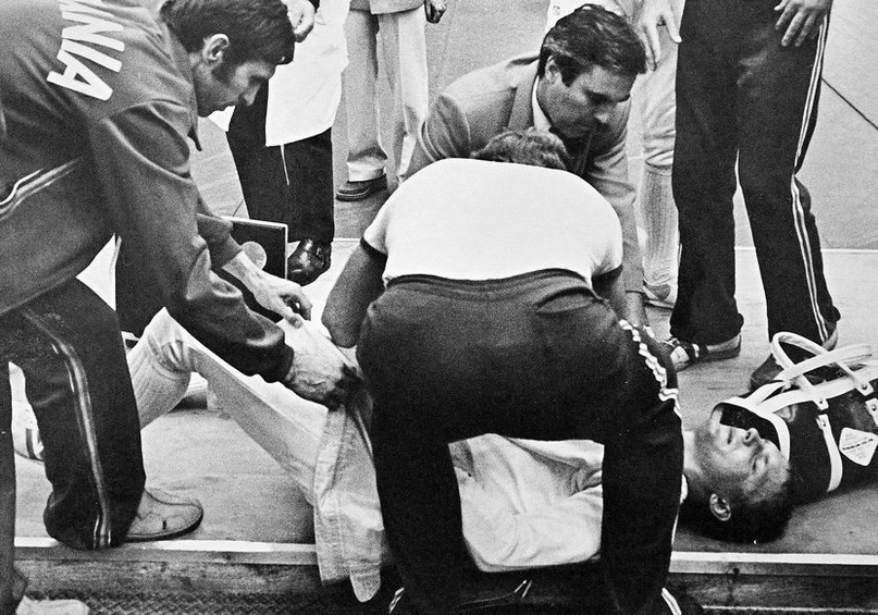 Ранение Владимира Лапицкого на московской Олимпиаде