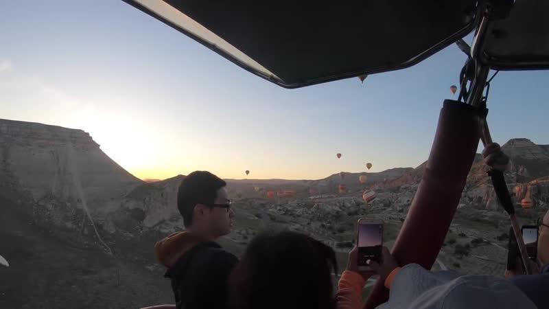 Каппадокия Полет на воздушном шаре от взлета до посадки Каппадокия Турция 2019 4К