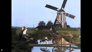 [4k, 50 fps, colorized] 1896-1899. Scenes of daily life. The Netherlands, Berlin.