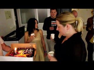Вечеринка 5 лет Twin Star - Катя с тортом