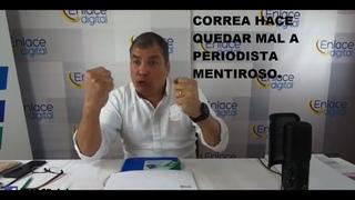 Rafael Correa DESBARATA Mentira de Periodista de Derecha