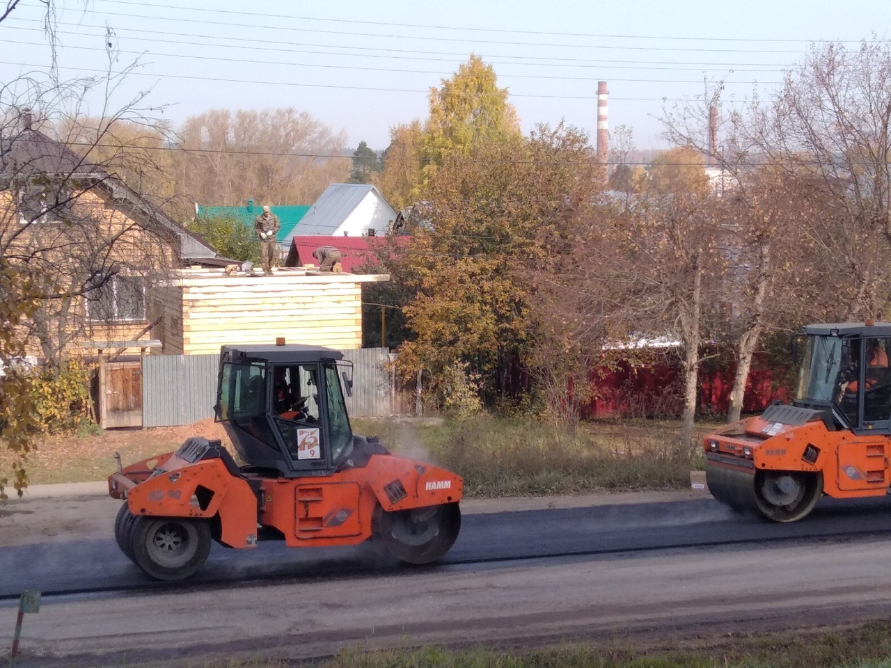 На улице Наговицына идет ремонт