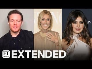 Sam Heughan On Working With Celine Dion, Priyanka Chopra | EXTENDED