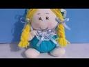 Como fazer uma linda bonequinha sem máquina feita a mão, Artesanato com Cris Pinheiro passo á passo