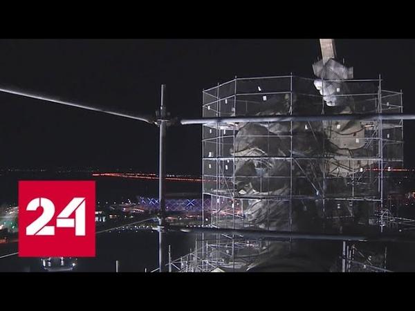 Последние штрихи: завершается реконструкция монумента Родина-мать зовет! - Россия 24