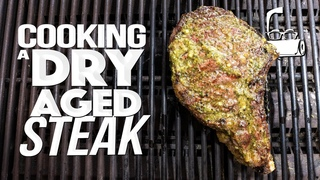 COOKING A 45 DAY DRY AGED STEAK ( WHAT TO DO WITH IT AFTER!) | SAM THE COOKING GUY