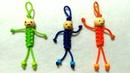 Gantungan kunci orang dari tali kur,macrame keychain,pelangi shop