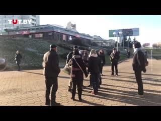 Конфликт с силовиками возле станции метро «Пушкинская»