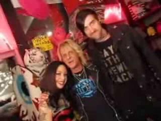 Megan Massacre and Erik von Gutenberg in the Trash & Vaudeville Store NYC