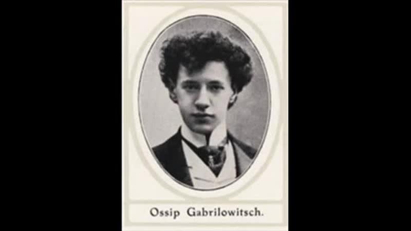 Ossip Gabrilowitsch plays Bach Bouree arr Saint Saёns