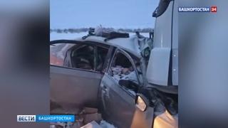 «Она выскочила – и сразу под меня»: водитель фуры рассказал о ДТП под Уфой, где погибла семья