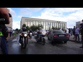 Мотофестиваль Обская Волна 2014 (Новосибирск). Старт колоны участников. Часть 1