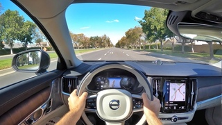 2021 Volvo S90 Recharge T8 POV Test Drive (3D Audio)(ASMR)