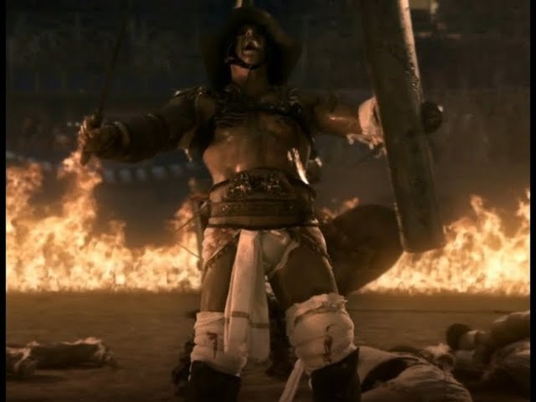 Spartacus Gods of the arena HD 1080 Caburus vs Crixus and Gannicus Спартак Боги арены