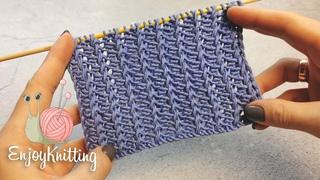 АЖУРНЫЕ Дорожки Узор Спицами | How to knit Lace stitch pattern