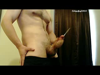 Hot big cock stroked (cumpilation) to multiple cumshots sexy solo male