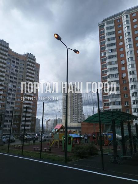 Освещение во дворе на Сочинской восстановили коммунальщики