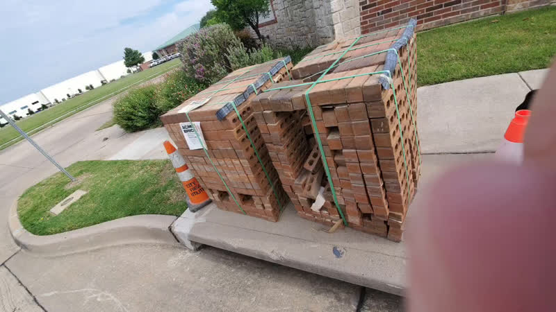 Unattended Pallet of Bricks In Frisco Texas Planted By Extremists or Opportunistic Theft