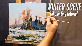 How to Paint Winter Landscape scene in Oils | Impressionist Tutorial